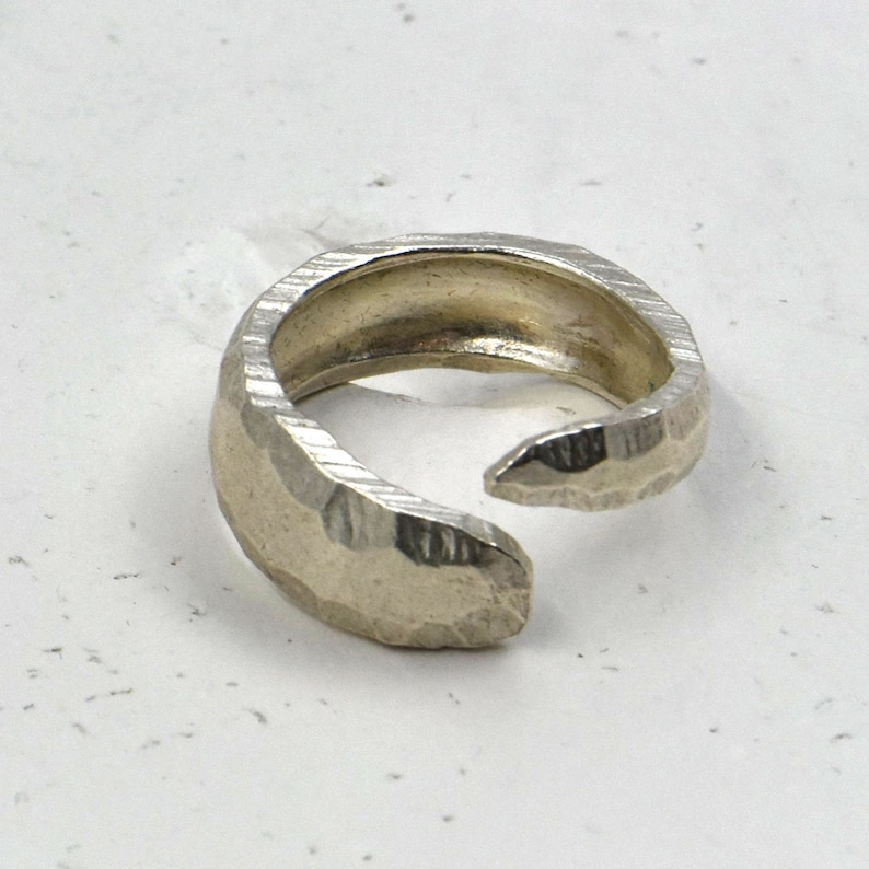 Sterling silver ring,modern ring,women/'s ring,ring for her,contemporary,thick silver ring,adjustable ring,ring for him,men/'s ring