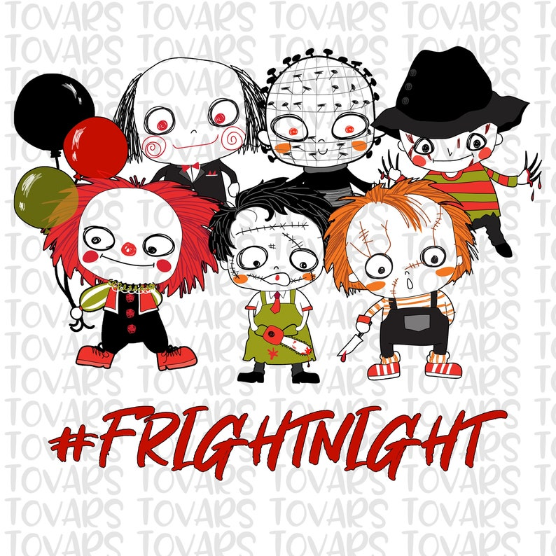 Halloween Fright Night China Movie.Fright Night Horror Movie Killers Sublimation Download Halloween Png File Instant Download Sublimation Horror Movies Halloween Squad
