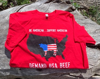 Be American Support American Beef Tee