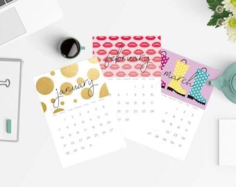 2018 calendar - printable