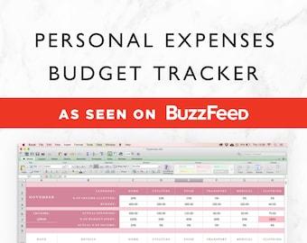 budget tracker etsy