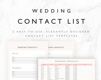 Wedding Planner Budget Template Excel Spreadsheet Wedding Etsy
