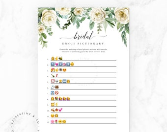 Bridal Shower Game Printable · Emoji Pictionary · Bridal Emoji Pictionary Game · Instant Download PDF JPEG Floral Bridal Shower · Orla Suite
