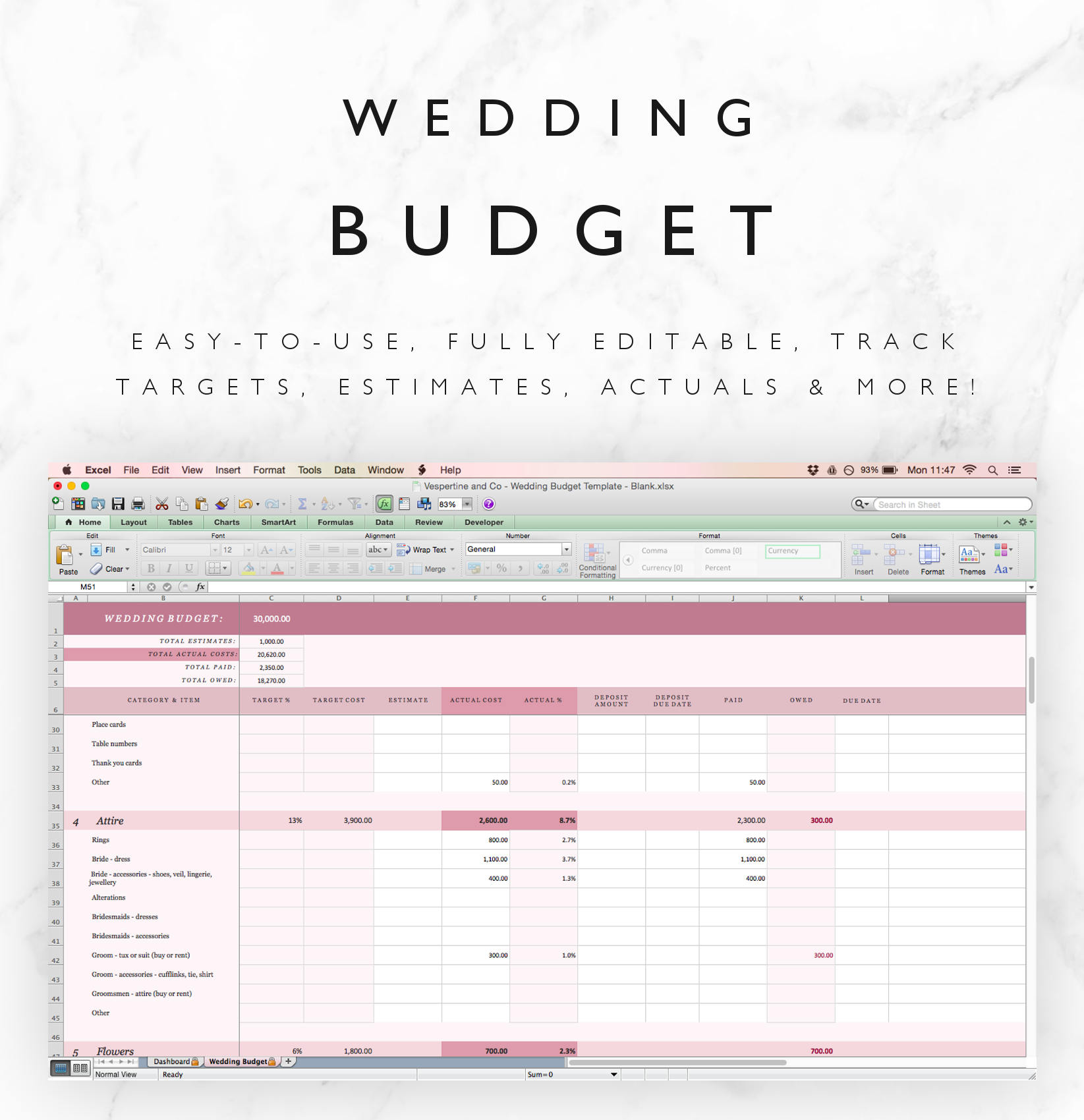 wedding budget tracker template excel spreadsheet plus