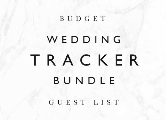 items similar to save 20 wedding tracker bundle wedding guest