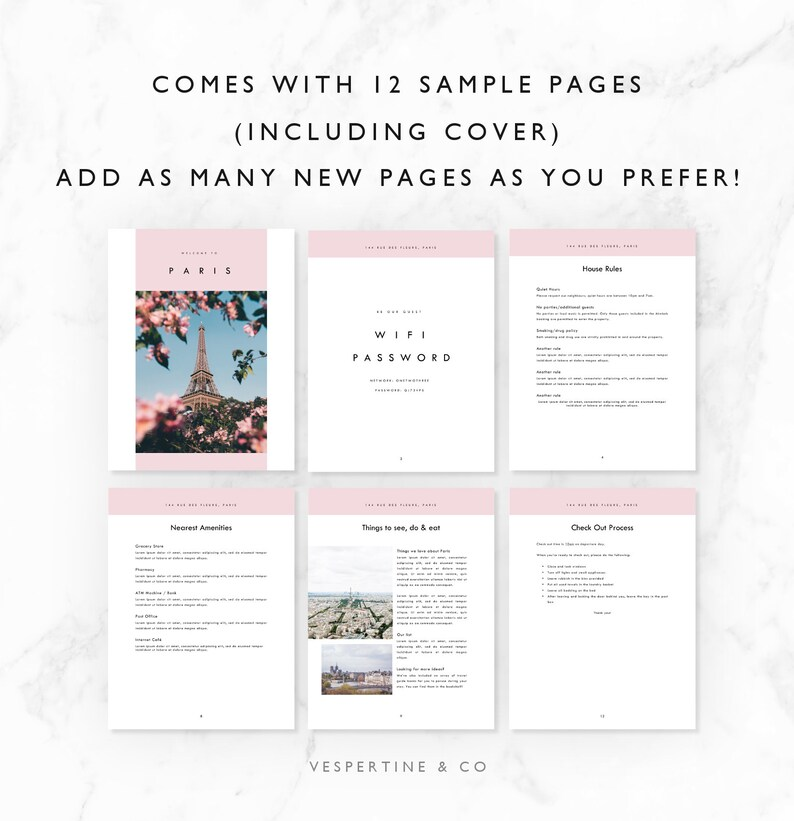 Welcome Book · Airbnb Welcome · Vacation Home Welcome Book · Airbnb  Printable · Local Guide · Vacation Rental Manual · Instant Download