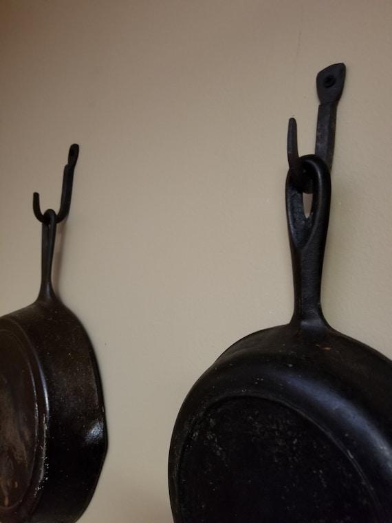 Cast Iron Cookware Hooks *skillet hooks *pot hooks *kitchen hooks