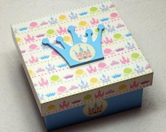 "Secret ""Blue Princess"" wooden box"
