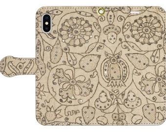 """Wallet phone case """"17c British Lace Coif"""""""