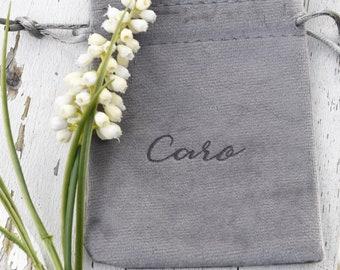 laser engraved velvet bag personalized gift packaging