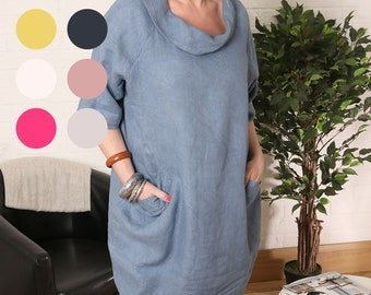 f2908c747ca Lagenlook Ladies Scoop Neck Dress