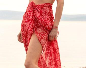 b0f4ed32390f3 Sarong   Beach Cover Up   Beach Sarong   Pareo   Maxi Skirt   Sarong Beach  Wrap   Transparent   See Through   Bridesmaid Gift   UK Sellers