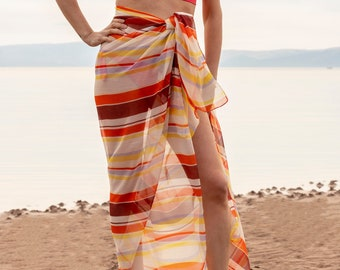 5a29c38b64d67 Sarong | Beach Cover Up | Beach Sarong | Pareo | Maxi Skirt | Sarong Beach  Wrap | Transparent | See Through | Bridesmaid Gift | UK Sellers
