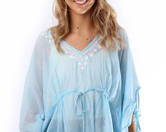 02b85b5570 Women's Beach Cover Up Top   Beach Cover Up   Summer Beach Robe   Boho  Style Top   Summer Festival Clothing   One Size Clothing