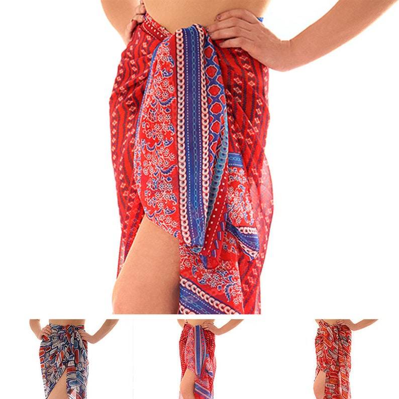 a5f153250c9f8 Personalised Women's Sarong Beach Sarong Swimwear | Etsy