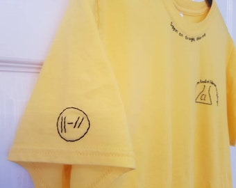 0dcf1054 Twenty One Pilots Trench band merch T-shirt Chlorine Lyrics