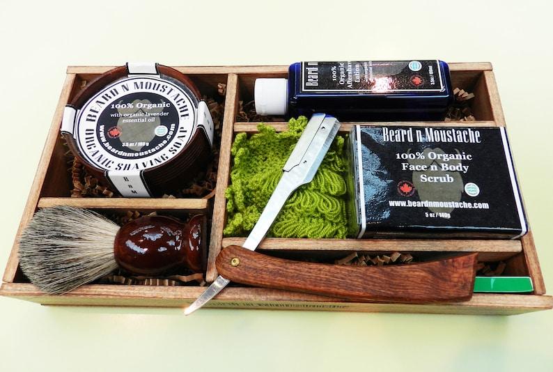 Men's Organic Barber Set Birthday Gift for Him Birthday image 0