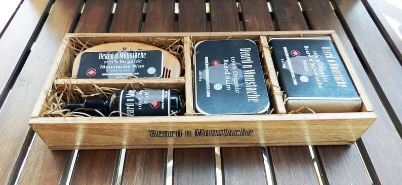 Men's Organic Grooming Set Birthday Gift for Him image 0