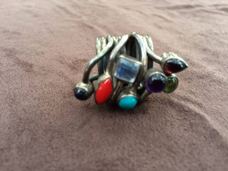 Whimsical Stone and Metal Ring