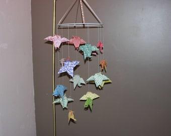 Origami paper OWL mobile