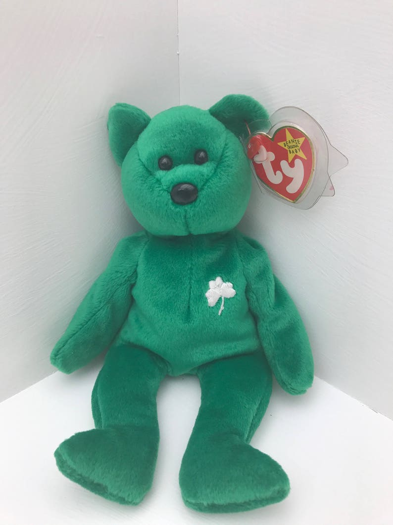 Retired TY Erin Beanie Baby With Unique Tag Errors  2c3109bb030