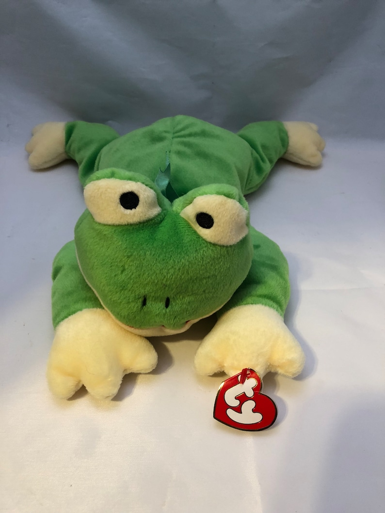 49ffc020051 Pillow Pals Ty Beanie Baby Ribbit The Frog