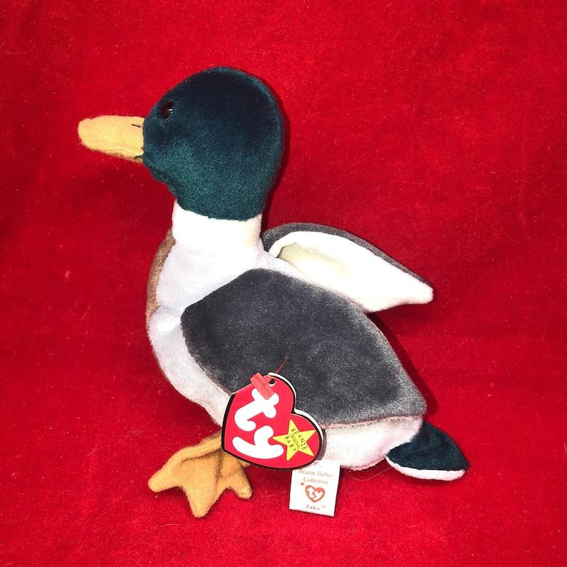 88b0e7290f4 1997 Ty Beanie Baby Jake the Mallard Duck