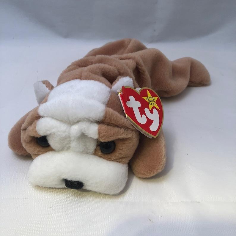 Ty Beanie Baby Wrinkles the Bulldog 1996  9eeb9f34937c