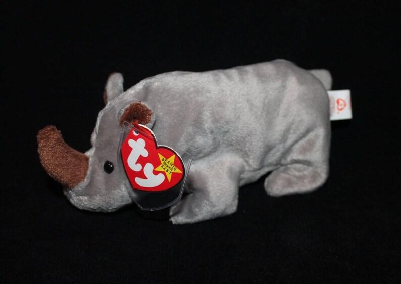 ceaee44f2cb Ty beanie babies Spike the rhino 1996