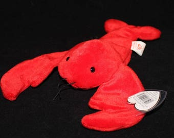 Ty Beanie Baby Pinchers The Lobster-MINT & RARE with PVC Pellets 1993