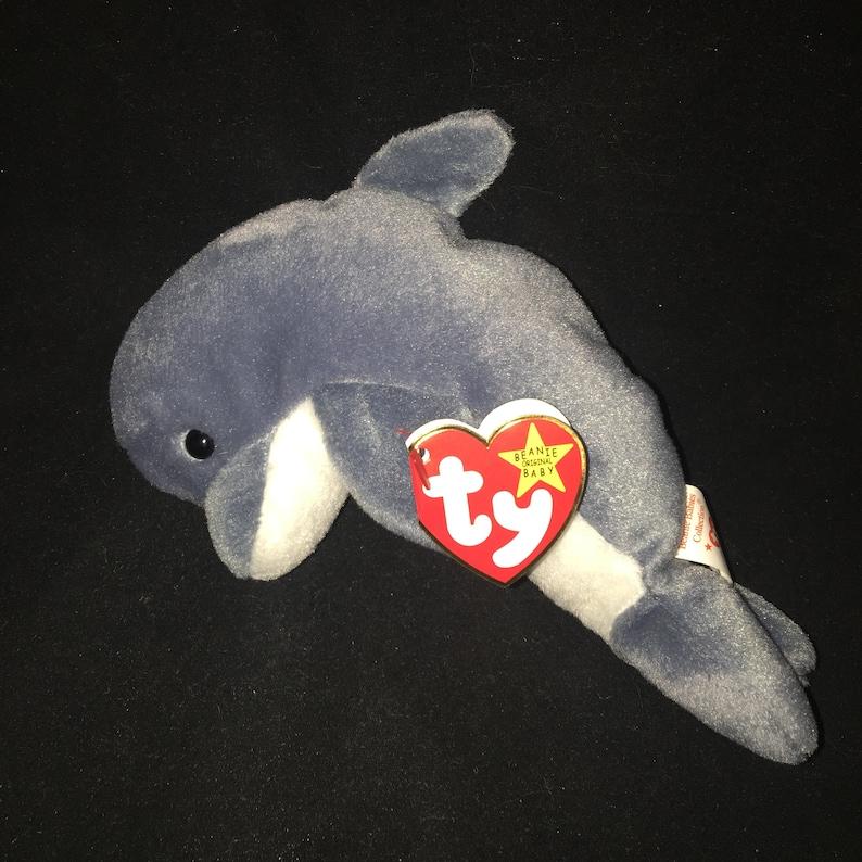 37c6d3823b6 1996 Ty Beanie Baby Echo the Dolphin