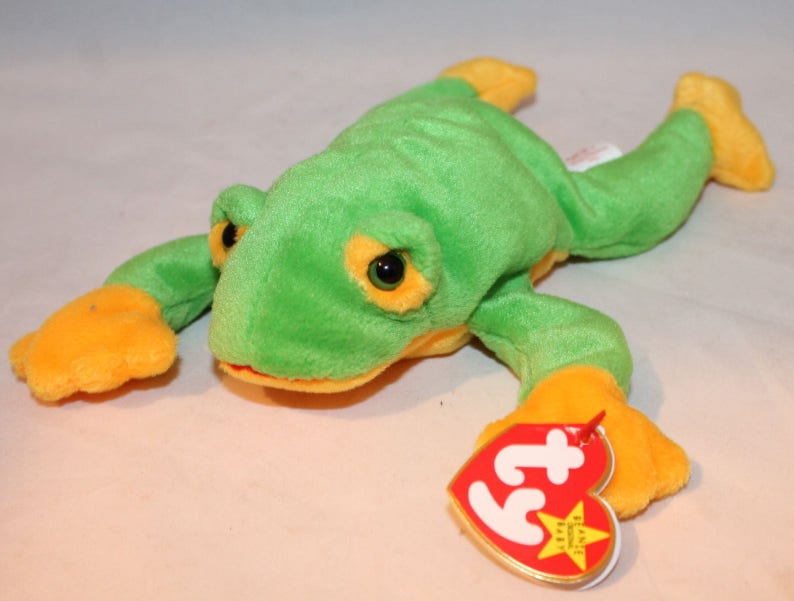 74e5f1a2266 Smoochy The Frog Ty Beanie Baby Retired