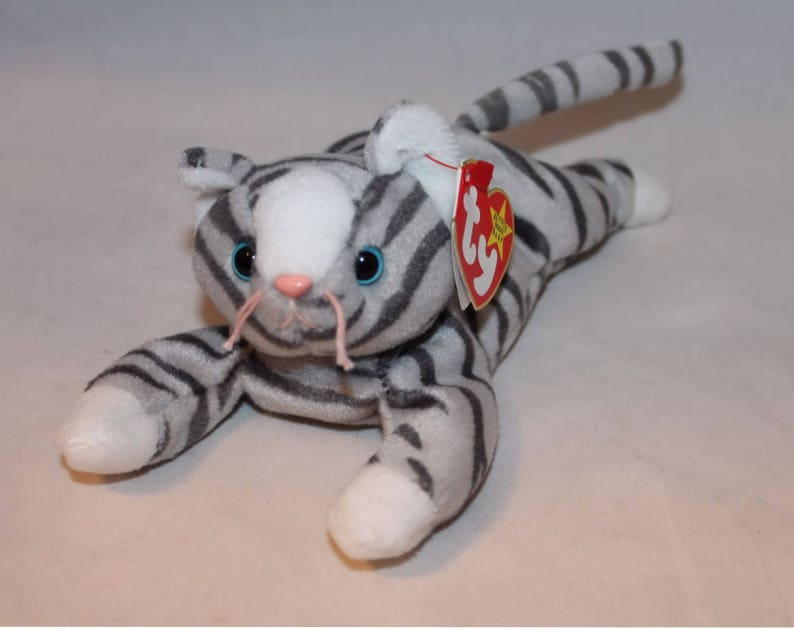 6c9dc7c9688 Prance The Gray Tabby Cat Ty Beanie Baby Retired