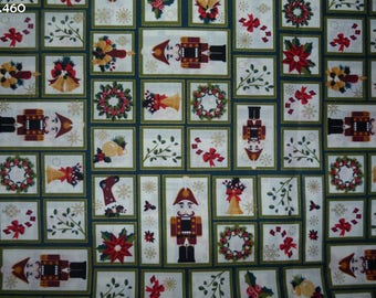 Fabric C460 small vignettes of Christmas coupon 30x45cm