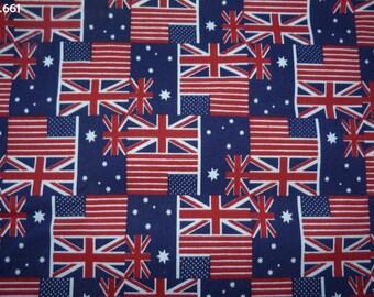 Fabric flags C661 American/English/Australian 34x49cm coupon