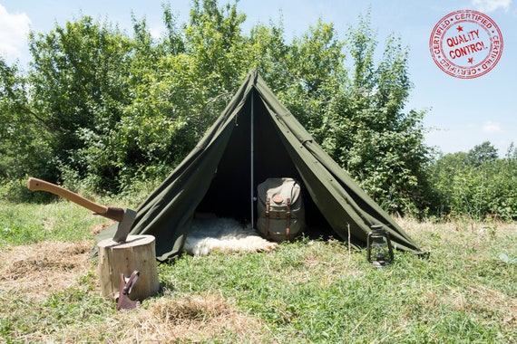 timeless design 737f1 66f1a SIZE I - Polish Army Teepee Tent / Lavvu NEW!! (2 Poncho)