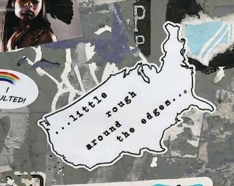 USA Rough Sticker
