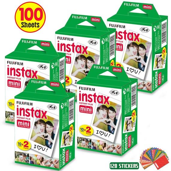 total 100 imágenes 5 Fuji Instax mini doble pack película Fujifilm