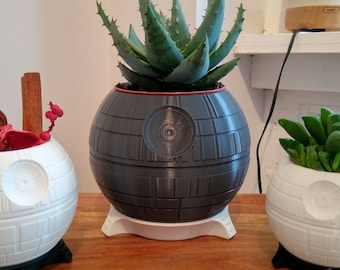 Death Star Plant Pot | Star Wars, Boyfriend Gift, Plant Stand, Mens Gift, Succulent Planter, Darth Vader, Star Wars Gift, Gift For Him