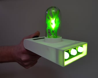 Rick and Morty Portal Gun With Lights! Rick Sanchez, Rick Portal Gun, Rick Gun, Pickle Rick, C-137,Rick Cosplay, Gift For Him