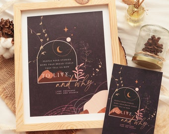 People need stories - One Thousand and One Nights - print