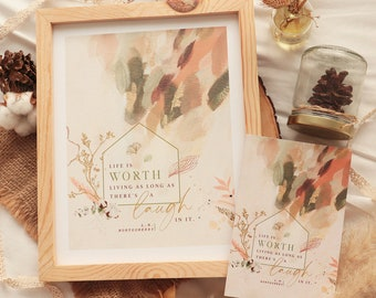 Life is worth living - Anne of Green Gables print