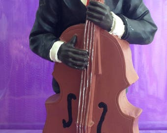 Jazz Musician playing Double Bass Figurine 9 inches tall