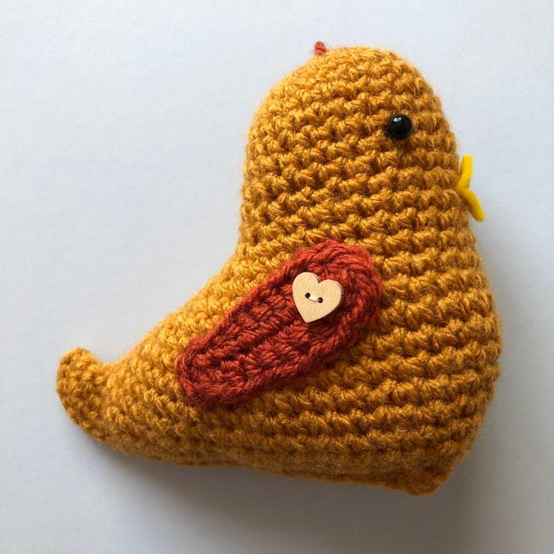 Crochet Bird Gold and Copper Home Decor Ready Made.