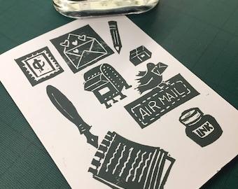 Snail Mail Card - Green