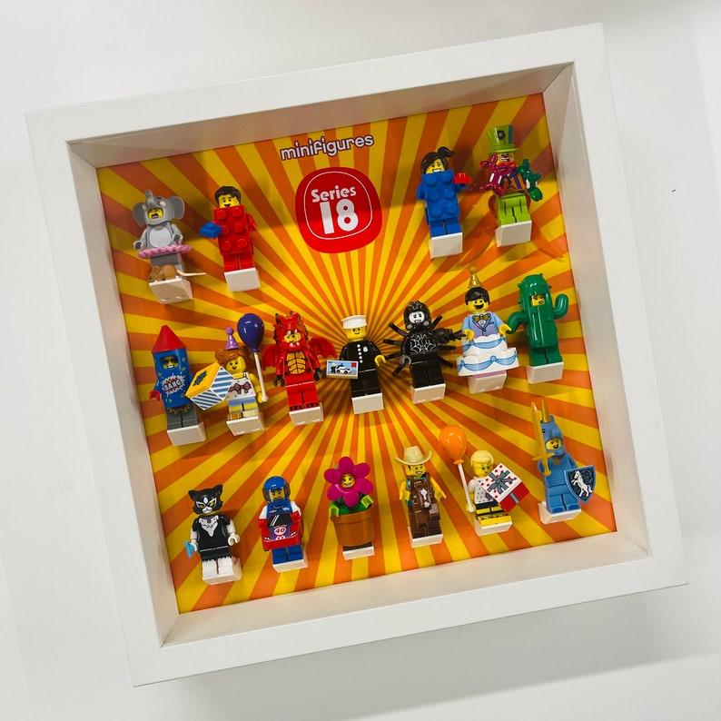 Display Frame Case For Lego Series 18 Minifigures 71021 27CM No Figures