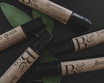 pandora's box - perfume mystery gift set / ritual bath oil / horror & macabre /