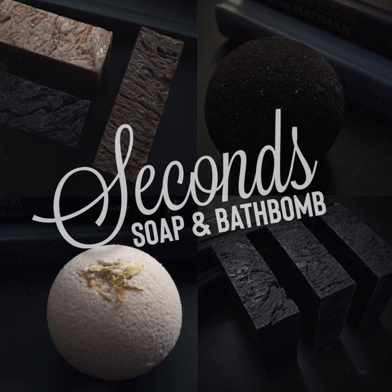 seconds and imperfect soap bars  bath bombs / artisanal soap image 0