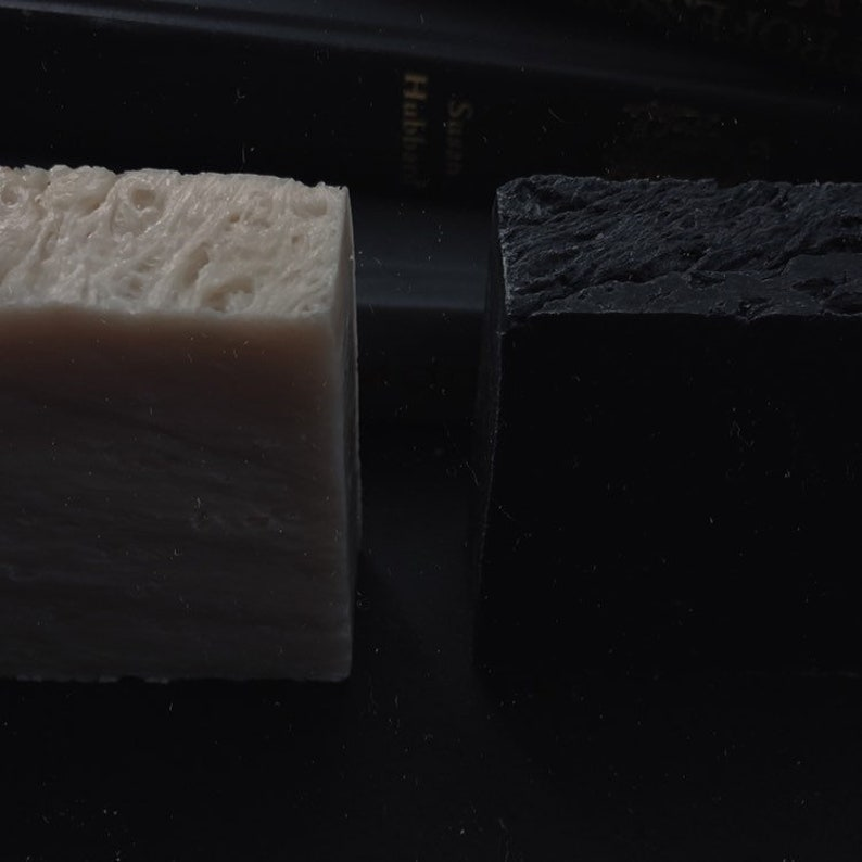 white witch and black magic / artisanal soap set of two / image 0