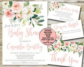 baby girl invites etsy